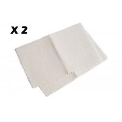 Pack de 2 Chiffons nettoyants Rénovateurs ADHOC 251006 Inox Chrome & Cuivre