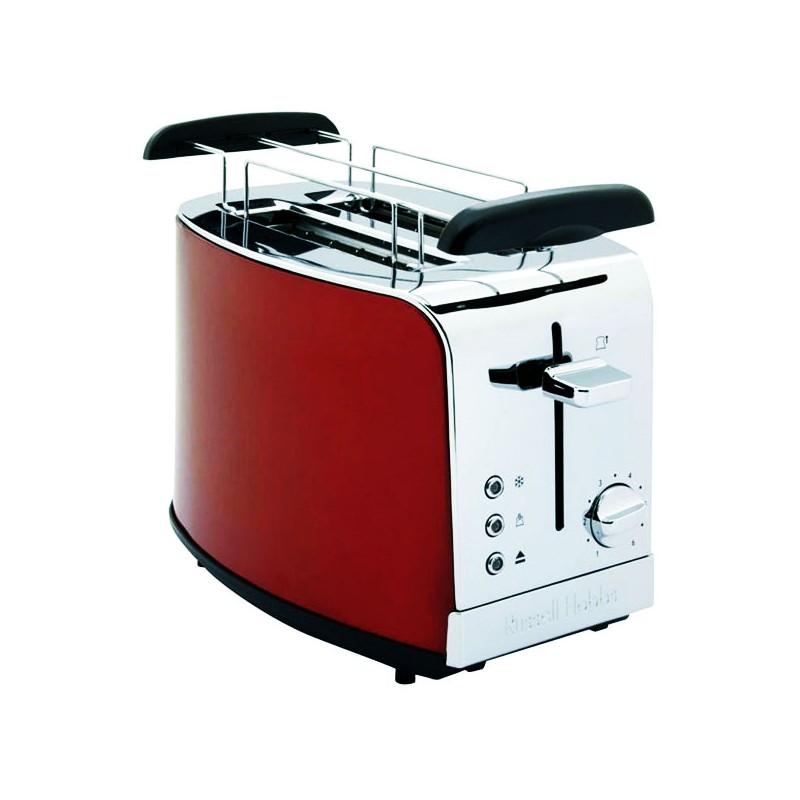 Grille-pain 2 fentes Russel HobbsS T23-500 Inox Brossé Bleu ou Rouge