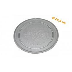 Plateau lisse Ø 24,5 cm en verre pour Fours micro-ondes 20L LG 7809938