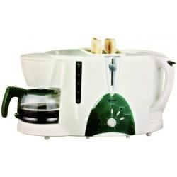 Set petit-déjeûner 3en1 (Cafetière, bouilloire et grille-pain) DONLIM MF3400