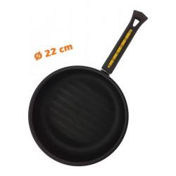 Poêle anti-adhérente Ø 22 cm BLACK PEARL TF9A Spéciale merguez saucisses