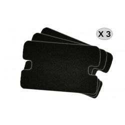 Pack de 3 Microfiltres Universels Aspirateur AEG 1000/3000 S - Noir