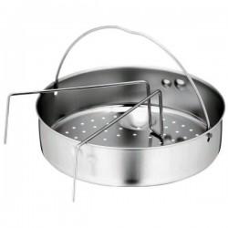 Panier vapeur perforé Ø 20,7cm + Support - pour Cocotte / Autocuiseur PV-MET-20.7