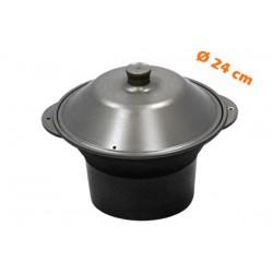 """Marmite alu Anodisé Multi-cuissons Ø 24 cm SHABU SHABU AHS24 """"Forme cônique"""""""
