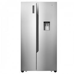 Réfrigérateur Combiné Side-by-Side 2 Portes 512L A+ Distributeur à eau No Frost FRIDGEMASTER M67SS Silver