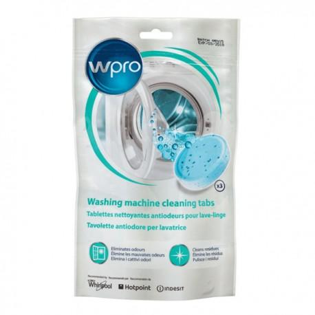 Tablettes nettoyantes anti-odeurs pour lave-linge WPRO AFR301 (3 x 40 g)