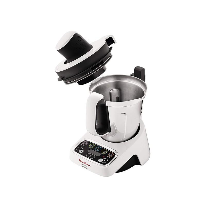 Robot cuiseur 3L MOULINEX HF404110 VOLUPTA Blanc, Gris 1000W
