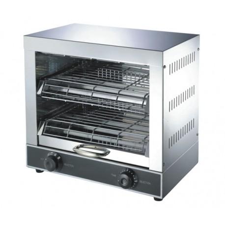 Toaster Professionnel 9 Résistances 2 Étages ALPHA AT-370B Inox