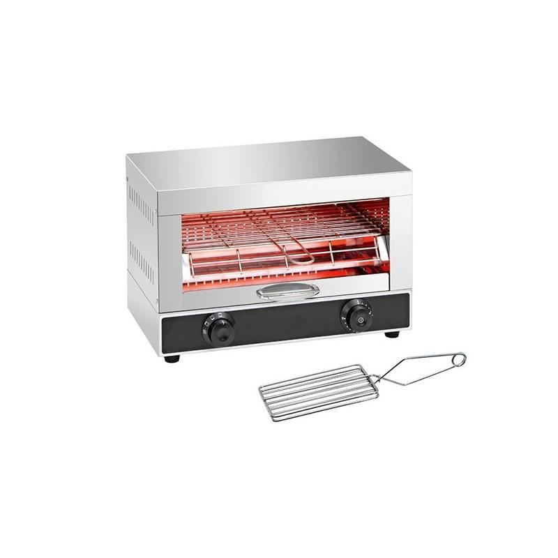 Toaster Professionnel 4 Résistances 1 Étage ALPHA AT-370B Inox