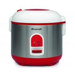 Cuiseur à riz 1,5 L + Panier vapeur BRANDT CUI715 Inox, Blanc, Rouge