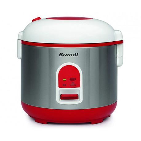 Cuiseur à riz 1,5 L + Panier vapeur BRANDT CUI715 Blanc, Rouge