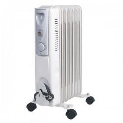 Radiateur bain d'huile - 7 éléments - EMERIO HO108020 1500 W Blanc