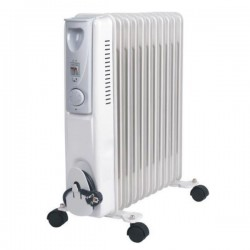 Radiateur bain d'huile 11 éléments - EMERIO HO108022 2500 W Blanc