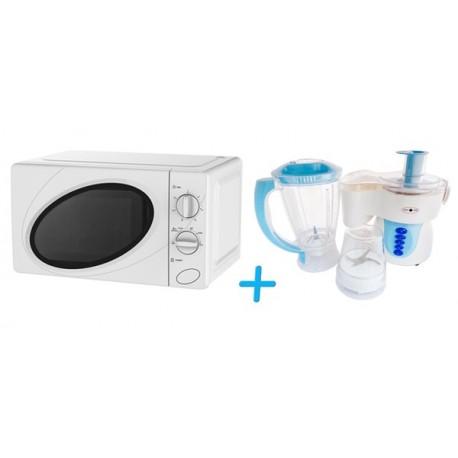 Pack Micro-ondes 20 L 700 W + Coffret robot 3en1 1,5 L 300 W
