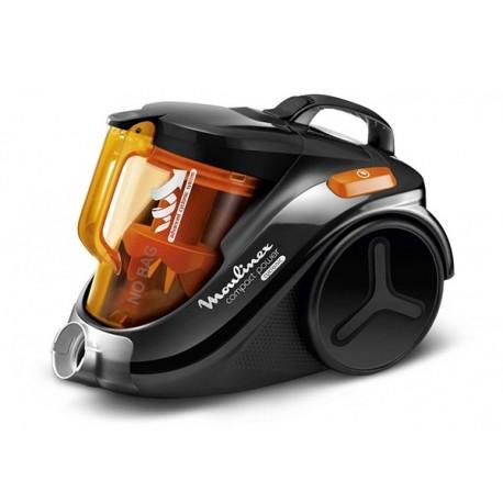 Aspirateur sans sac MOULINEX MO3723PA COMPACT POWER CYCLONIC Noir, Orange