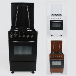 Cuisinière 4 foyers Gaz + Four Gaz | 50 cm x 55 cm | XPER XP5040ACEB Marron